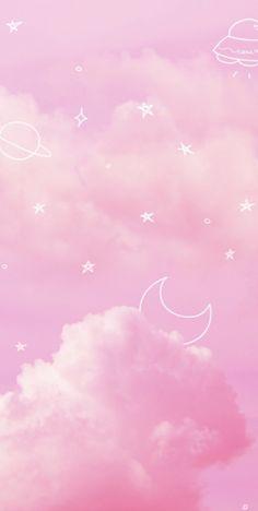 Pastel Pink Wallpaper Iphone, Pink Clouds Wallpaper, Pink Wallpaper Backgrounds, Iphone Wallpaper Sky, Aesthetic Pastel Wallpaper, Kawaii Wallpaper, Pink Aesthetic, Aesthetic Wallpapers, Backgrounds Free