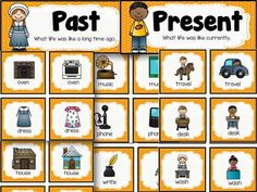 Past and Present picture sort for teaching about life then and now.