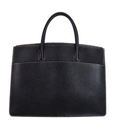 Hermes Black Leather Tote