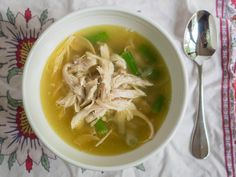 Pressure Cooker Shredded Chicken Broth Soup-1020176