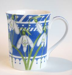 Nicola Wiehahn's Artist Shop - Bone China Snowdrop Mugs For Sale Mugs For Sale, Kitchen Dishes, Black Coffee, Bone China, Cups, Seasons, Tea, Tableware, Artist