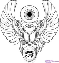 Egypt. Scarab beetle. Good luck in the afterlife | tattoos ...