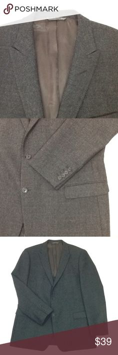 "Andrew Marc New York men's sport coat Excellent pre-owned . Medium gray 100% wool. Two button front, single back vent, partial lining. Chest laid flat is 23,"" waist is 22,"" sleeve is 27,"" and length is 33."" Andrew Marc Suits & Blazers Sport Coats & Blazers"