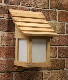 Traditionally styled Japanese wall lanterns for garden or indoor, hand made with treated oak timber in different styles.