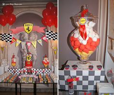 The podium for this Ferrari themed party