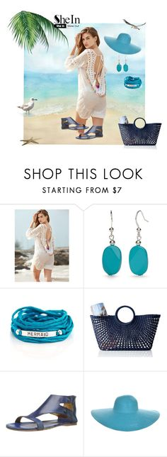 """""""SheIn Cover-up"""" by stormysmom ❤ liked on Polyvore featuring Kim Rogers, Blooming Lotus Jewelry, Mark & Graham and Bed