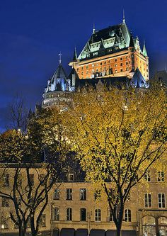 Chateau Frontenac, Quebec City, Quebec, Canada.