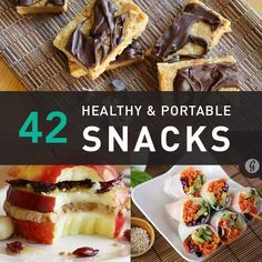 healthy snacks to go, pack a lunch, portable, non-refrigerated
