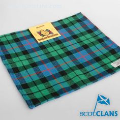 Morrison Hunting Tartan Pocket Square. Free worldwide shipping available
