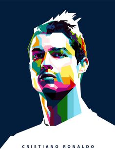 https://flic.kr/p/dAPDqS | Ronaldo WPAP | WPAP (Wedha's Pop Art Portrait) by Rizky Dion