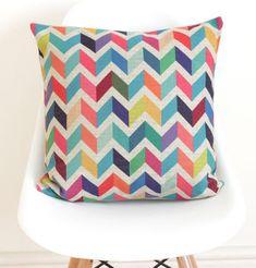 Geometric Chevron Cushion Cover