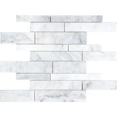 Shop White Venatino Marble Natural Stone Mosaic Wall Tile (Common: 12-in x 12-in; Actual: 12-in x 12-in) at Lowes.com
