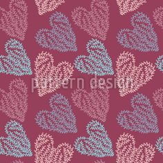 Zarte Herzen Musterdesign by Maria ion at patterndesigns.com Vektor Muster, Surface Design, Valentines Day, Patterns, Abstract, Artwork, Floral Patterns, Valentine's Day Diy, Block Prints