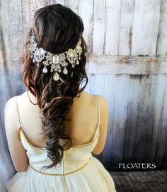 Wedding Headpiece Wedding Headband Bridal by HairFloaters on Etsy