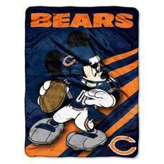 Chicago Bears Fleece Blanket Throw Large Lightweight Throw