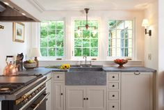 Canadian soapstone sink and countertops / South Shore Gambrel - boston - Frank Shirley Architects