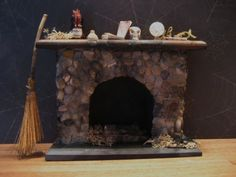 Witch's Fireplace for Haunted Dollhouse from LilWitchy on etst