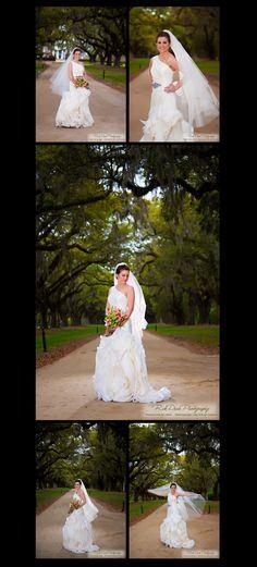 Avenue of Oaks at Boone Hall * Wedding Photography Funderburk Bridal Portrait ©Rick Dean Photography 2013 Boone Hall Plantation