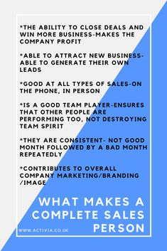 For people working in this article looks at the overall characteristics of high performance salespeople Business Sales, Business Marketing, Business Tips, Business Quotes, Types Of Sales, Sales Skills, Sales Motivation, Sales Coaching, Sales Techniques
