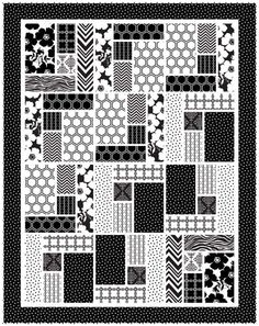 Free Projects | Whimsical Quilt by The Quilted Button for Camelot Fabrics | Opposites Attract by Jackie McFee