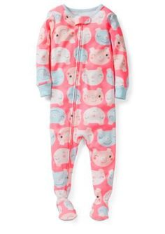 Carters  Pig Print Footed Sleep and Play