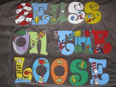 Dr. Seuss Inspired Hand Painted Letters MESSAGE by Snicklefritzs