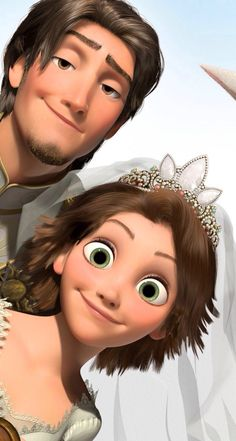 Tangled ever after. The difference of expression on their faces... :D lol