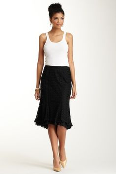 love the skirt    Guipure Lace Ruffle Chacha Skirt by Polli Says on @HauteLook