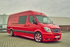 Hartmann Tuning Mercedes Sprinter gets an exclusive body kit consisting of front and rear spoiler, side skirts, and new fog lights. Description from motorward.com. I searched for this on bing.com/images