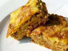 Burek cu carne Gourmet Recipes, Cooking Recipes, Healthy Recipes, Burek Recipe, Calories In Vegetables, Cucumber Water, Ground Meat Recipes, Lasagna, Food Print
