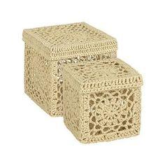 Cajitas de crochet en Zara Home... . CROCHET AND KNIT INSPIRATION: http://pinterest.com/gigibrazil/crochet-and-knitting-lovers/