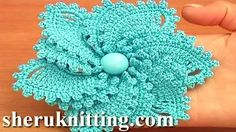 irish crochet lace flower tutorials - YouTube