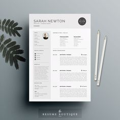 Resume Template and Cover Letter Template for by TheResumeBoutique