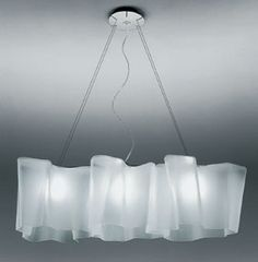 These add a nice touch of sophistication to a room. They come in a variety of sizes and combinations. I have also seen these used on a large scale with multiple light configurations filling a large ceiling giving the sense that they are floating clouds. Great in a modern restaurant, spa or a master bedroom.