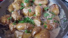 Roasted New Potatoes with Creamy Sauce