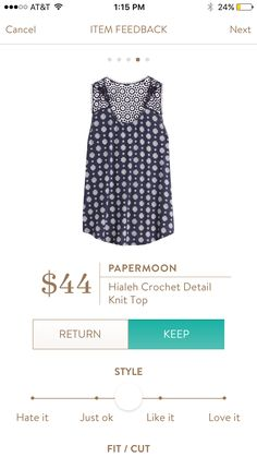 #stitchfix @stitchfix stitch fix https://www.stitchfix.com/referral/3590654 Papermoon Hialeh Knit Top