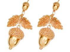 Harvest of Gold - Victorian Acorn Earrings - The Three Graces