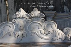#24/084 French Wooden Carved Pediments