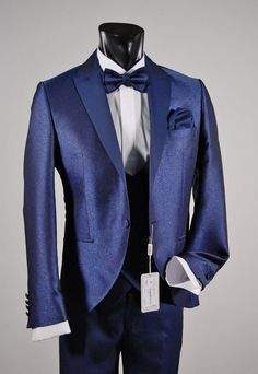 Tuxedo bluette musani Milan ceremony slim fit