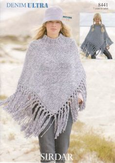 Easy Poncho Patterns for Free | Download Free Knitting Pattern Poncho Free Tutorial in Ebook Pdf