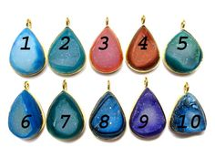 24 kt Gold Plated Druzy Pendants  1 piece of fine by finegemstone, $13.00