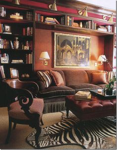 love how cozy this is...shelves, upper shelf, cushions and skirt