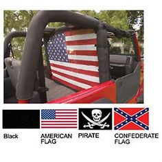 VDP WindStopper - Wind Screen, American Flag (87-06 Wrangler YJ & TJ) 508005-1 - Free Shipping over $75!