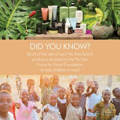To learn more, visit forceforgood.org. #NuSkinGives