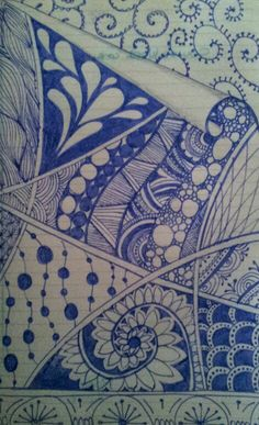 My first serious zentangle doodle...