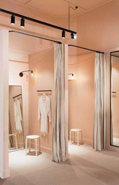 Pink in 2019 clothing boutique interior, clothing store interior, clothing Pink Clothing Store, Clothing Boutique Interior, Clothing Store Design, Boutique Decor, Boutique Store Design, Boutique Ideas, Boutique Stores, Clothing Stores, Dressing Room Decor