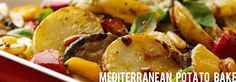 Mediterranean potato and vegetable bake Feed a family of four for just with our potato bake recipe. Short of time? Try swap the fresh veggies for of frozen Mediterranean vegetables 500 Calorie Dinners, Dinners Under 500 Calories, Low Calorie Recipes, Vegetable Recipes, Vegetable Bake, Vegetarian Recipes, Cooking Recipes, Healthy Recipes, Potato Recipes