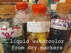 Marker Mitzvah: Making Liquid Watercolors | Bible Belt Balabusta