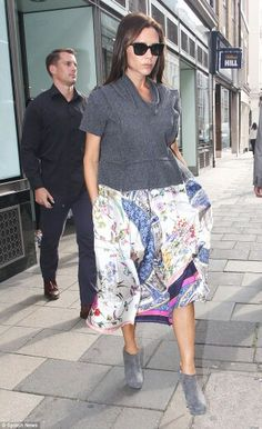 Victoria Beckham looking ever so fabulous as she heads to her new Mayfair boutique.