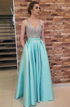 Princess Prom Dresses, Stylish A-Line/Princess Sleeveless V-neck Floor-Length Beading Satin Dresses Plus Size Formal Dresses and Plus Size Party Dresses are great for your next special Occassion at cheap affordable prices The Dress Outlet. Elegant Homecoming Dresses, Elegant Bridesmaid Dresses, A Line Prom Dresses, Cheap Prom Dresses, Formal Evening Dresses, Elegant Dresses, Formal Gowns, Graduation Dresses, Evening Gowns